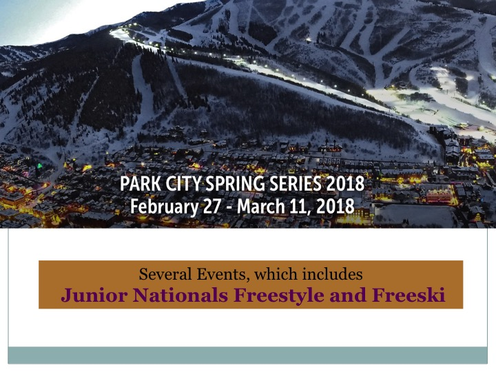 Junior Nationals Freestyle & Freeski